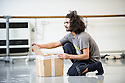 "London, UK. 16.12.2015. Choreographer and dancer, Salah el Brogy, in the rehearsal studio at The Place, preparing for Resolution 2016, where he will present his new work, ""Glitch"". Photograph © Jane Hobson."