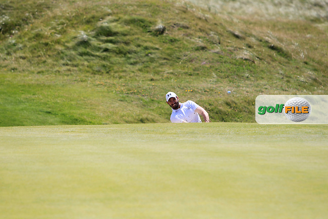 Mark Morrissey (Mount Wolseley) on the 3rd during Round 2 of the South of Ireland Amateur Open Championship at LaHinch Golf Club on Thursday 23rd July 2015.<br /> Picture:  Golffile   Thos Caffrey