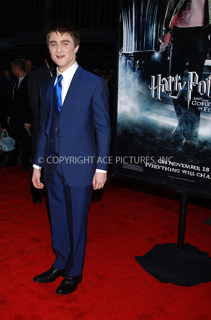 WWW.ACEPIXS.COM . . . . . ....November 12 2005, New York City....DANIEL RADCLIFFE....'Harry Potter and the Goblet of Fire' New York premiere arrivals at the Zeigfeld Theatre....Please byline: KRISTIN CALLAHAN - ACE PICTURES.. . . . . . ..Ace Pictures, Inc:  ..Philip Vaughan (212) 243-8787 or (646) 769 0430..e-mail: info@acepixs.com..web: http://www.acepixs.com