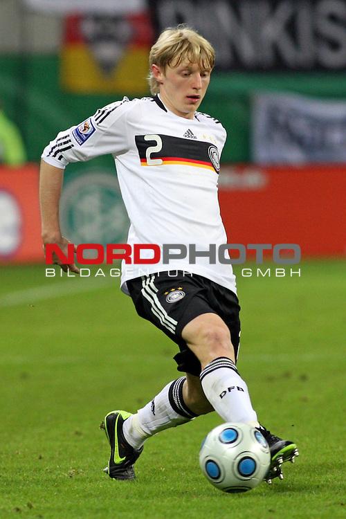 L&permil;nderspiel<br /> WM 2010 Qualifikatonsspiel Qualificationmatch Leipzig 28.03.2009 Zentralstadion Gruppe 4 Group Four <br /> <br /> Deutschland ( GER ) - Liechtenstein ( LIS ) 4:0 (2:0)<br /> <br /> Andreas Beck (#2 TSG 1899 Hoffenheim Deutsche Nationalmannschaft).<br /> <br /> Foto &copy; nph (  nordphoto  )<br />  *** Local Caption ***