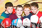Eye of the tiger: Brian Wall, Stephen Allen and twins Maurice and Donie Falvey, some of the budding boxers from Ballybunion's Scoil Pio Naofa who have started training at the Cashen Vale Boxing Club the Ballybunion Community Centre each week.   Copyright Kerry's Eye 2008