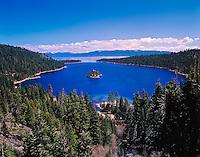 Emerald Bay and Lake Tahoe, Lake Tahoe, California