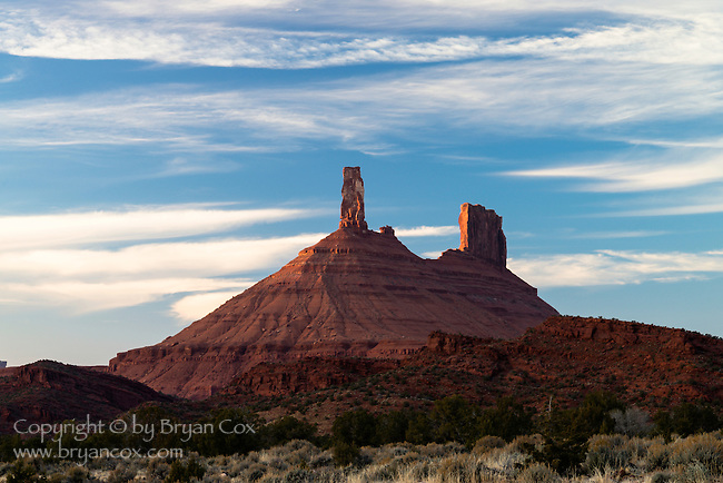 Sunset, Castle Rock, Castle Valley, Utah