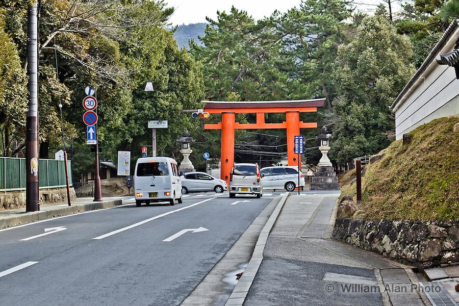 Entrance to Nara Park Nara Japan January 2010