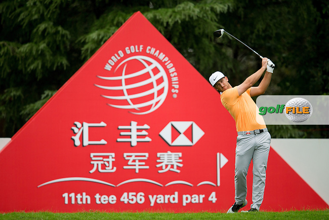 Kevin Chappell (USA) on the 11th during the 1st round of the  WGC-HSBC Champions, Sheshan International GC, Shanghai, China PR.  27/10/2016<br /> Picture: Golffile | Fran Caffrey<br /> <br /> <br /> All photo usage must carry mandatory copyright credit (&copy; Golffile | Fran Caffrey)