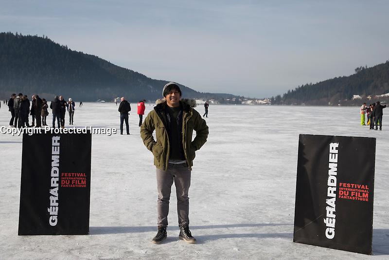JOHN N'GUYEN PENDANT LE 24EME FESTIVAL INTERNATIONAL DU FILM FANTASTIQUE DE GERARDMER, LE 28 JANVIER 2017 A GERARDMER, FRANCE. # 24EME FESTIVAL DU FILM FANTASTIQUE DE GERARDMER