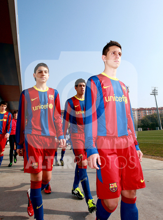 Joan Gamper sporting complex, Barcelona, Spain, 12th Feb 2011.