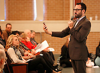 NWA Democrat-Gazette/DAVID GOTTSCHALK  Danny Cohen, author and researcher on the Holocaust, speaks Friday, November 6, 2015, during the 24th Annual Holocaust Conference at the Jones Center in Springdale.