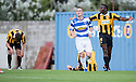 Morton's Archie Campbell celebrates after he scores their sixth goal.