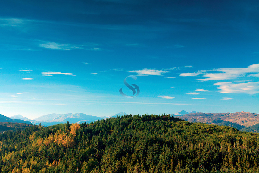 The Southern Highlands from Lime Craig above Aberfoyle, Loch Lomond and the Trossachs National Park, Stirlingshire