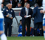 Ally McCoist and Kenny McDowall with their tactics notepads