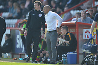 Stevenage manager Dino Maamria during Stevenage vs Cambridge United, Sky Bet EFL League 2 Football at the Lamex Stadium on 14th April 2018