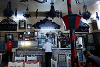 Tabarka, Tunisia, 18 Settembre 2018<br /> Caratteristico e antico Caffe l'Andalouse