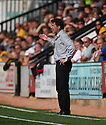 Wrexham manager Dean Saunders looks concerned during the Blue Square Premier match between Cambridge United and Wrexham at the Abbey Stadium, Cambridge on 19th September, 2009..© Kevin Coleman 2009 .