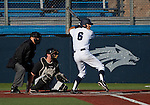 February 22, 2013: Nevada Wolf Pack batter Scott Kaplan at the plate against the  Northern Illinois Huskies during their NCAA baseball game played at Peccole Park on Friday afternoon in Reno, Nevada.