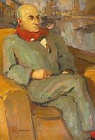 Europe/France/Bretagne/29/Finistère/Quimper : Musée des Beaux Arts, portrait de Max Jacob par Pierre de Belay 1933