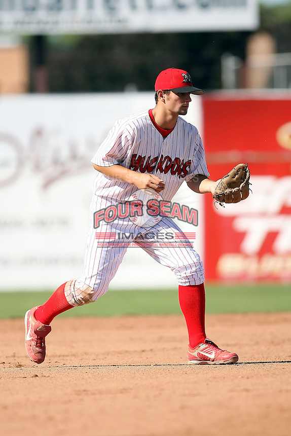 Sept. 3rd, 2007:  Pete Kozma of the Batavia Muckdogs, Short-Season Class-A affiliate of the St. Louis Cardinals at Dwyer Stadium in Batavia, NY.  Photo by:  Mike Janes/Four Seam Images