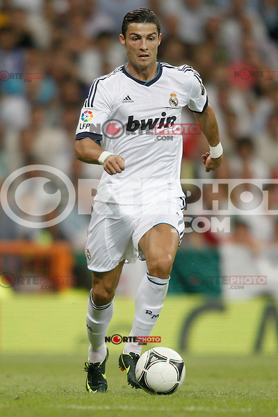 Real Madrid's  Ronaldo during Super Copa of Spain on Agost 29th 2012...Photo:  (ALTERPHOTOS/Ricky) Super Cup match. August 29, 2012. <br />  (foto:ALTERPHOTOS/NortePhoto.com<br /> <br /> **CREDITO*OBLIGATORIO** <br /> *No*Venta*A*Terceros*<br /> *No*Sale*So*third*<br /> *** No*Se*Permite*Hacer*Archivo**<br /> *No*Sale*So*third*