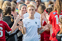 Boston, MA - Saturday April 29, 2017: Jess Fishlock and fans during a regular season National Women's Soccer League (NWSL) match between the Boston Breakers and Seattle Reign FC at Jordan Field.