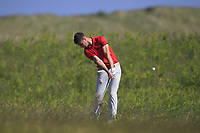 Devin Morley (Oughterard) on the 9th during Round 4 of the East of Ireland Amateur Open Championship 2018 at Co. Louth Golf Club, Baltray, Co. Louth on Monday 4th June 2018.<br /> Picture:  Thos Caffrey / Golffile<br /> <br /> All photo usage must carry mandatory copyright credit (&copy; Golffile | Thos Caffrey)