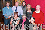ENJOYING: Celebrating the new year in Kirby's Lanterns Hotel, Tarbert, were front l-r: Mary Dee, Elizabeth Kissane and Denise Dee. Back l-r: Mattie McMahon, Tim and John Kissane, Jackie Sheehan and Denis Dee.   Copyright Kerry's Eye 2008