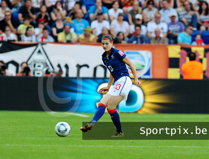 Fifa Women's World Cup Germany 2011 : Zweden - France Frankrijk at Sinsheim World Cup stadium : Caroline Pizzala.foto DAVID CATRY / Vrouwenteam.be