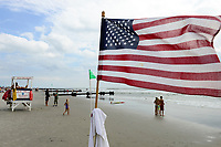 USA, New Jersey, Ocean City, beach and bay watch