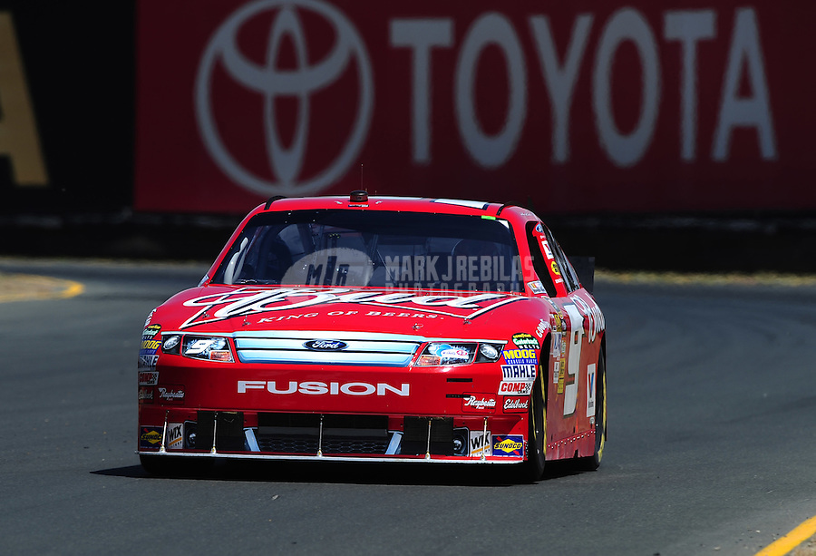 Jun. 19, 2010; Sonoma, CA, USA; NASCAR Sprint Cup Series driver Kasey Kahne during practice for the SaveMart 350 at Infineon Raceway. Mandatory Credit: Mark J. Rebilas-