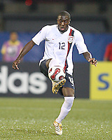 Josmer Altidore catches the ball on his instep. USA stunned Brazil, winning 2-1 to finish first in their group. Final game in group D in Ottawa, Ontario, on JULY 6 2007.