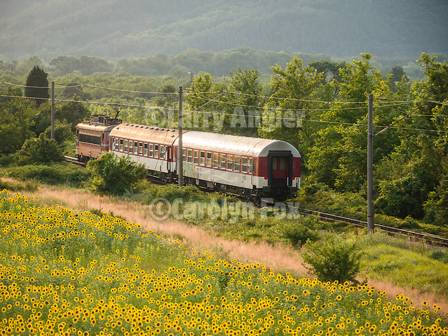 Passenger train, Davovo, Bulgaria