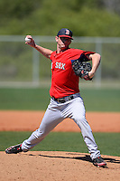 Boston Red Sox pitcher Michael McCarthy #73 during a minor league Spring Training game against the Minnesota Twins at JetBlue Park Training Complex on March 27, 2013 in Fort Myers, Florida.  (Mike Janes/Four Seam Images)