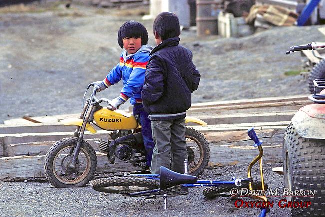 Little Boy On Mini Motorcycle
