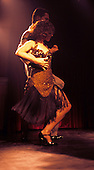 Buenos Aires, Argentina. Couple dancing the tango on stage.