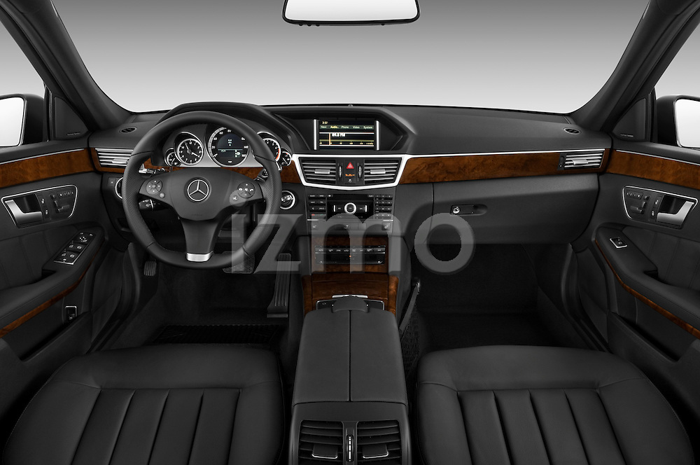 Straight dashboard view of a 2011 Mercedes E350 4Matic Wagon.
