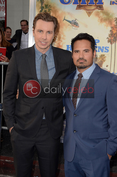 "Dax Shepard, Michael Pena<br /> at the ""Chips"" Los Angeles Premiere, TCL Chinese Theater, Hollywood, CA 03-20-17<br /> David Edwards/DailyCeleb.com 818-249-4998"