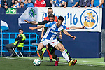 Leganes's Unai Bustinza and Real Betis's Joaquin Sanchez during La Liga match. Februry 16, 2020. <br /> (ALTERPHOTOS/David Jar)