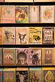 USA, Oregon, Ashland, detail of cards at a store called Papaya Living