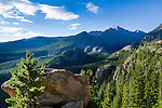 high country summer morning in Rocky Mountain National Park, Colorado, USA