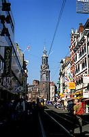 The Munttoren tower in Amsterdam (Netherlands, 12/04/1991)