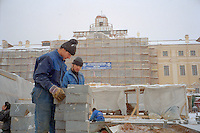 Saint Petersburg, Russia, November 2002..Reconstruction of Konstantinovsky Palace, which has been set aside as President Putin's new country home, and where he will welcome world leaders in May 2003 for the 300th anniversary celebrations of St Petersburg....