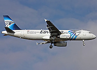 Pictured: The Airbus A320-232, stock picture dated 2011 as it lands at Ataturk Airport<br /> Re: EgyptAir Flight 804 (MS804/MSR804) is an international passenger flight operated by EgyptAir that went missing on 19 May 2016 at 02:45 local time.Egyptian authorities have stated that the plane most likely crashed into the sea. A multinational search and rescue operation is underway.<br /> The aircraft involved was an Airbus A320-232