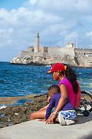 Cuba, Castillo de los tres Reyes del Morro + Malecon in Habana, Unesco-Weltkulturerbe