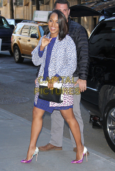 NEW YORK,NY - NOVEMBER 3: Kerry Washington at ABC's The View promoting her Scandal tv series and fashion line in New York City on November 3, 2014.  <br /> CAP/MPI/RW<br /> &copy;RW/ MediaPunch/Capital Pictures