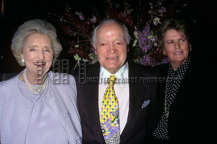 Dolores, Bob & Linda Hope pictured at Rosemary Clooney opening at Rainbow & Stars New York City May 11, 1997