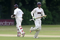 S Imtiaz and A Zaidi in batting action for Ilford during Wanstead and Snaresbrook CC vs Ilford CC, Shepherd Neame Essex League Cricket at Overton Drive on 17th June 2017