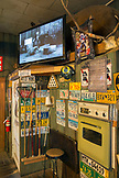 USA, Oregon, Imnaha, interior detail at the Imnaha Store and Tavern, Northeast Oregon