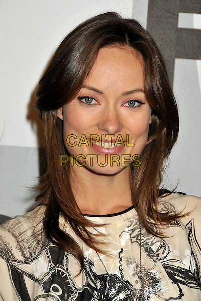 OLIVIA WILDE.FOX All-Star Winter 2009 TCA Party at My House Night Club, Hollywood, California, USA..January 13th, 2009.headshot portrait black cream pattern white.CAP/ADM/BP.©Byron Purvis/AdMedia/Capital Pictures.