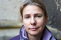 Lionel Shriver American Writer at Christchurch College Oxford  at The Oxford  Literary Festival   2013. Credit Geraint Lewis