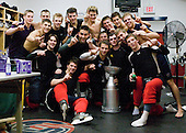 Jack Campbell, Drayson Bowman, Dave Wohlberg, Nick Palmieri, James van Riemsdyk, Patrick White, Adam Comrie, Blake Kessel - Ryan Bourque, Jack Connolly, Nick Petrecki, Cam Fowler, Cade Fairchild, Jeremy Smith - Colin Long, Matt Rust, Danny Kristo -Team Red earned the most points during the scrimmage part of the camp which concluded on Monday, August 4, 2008, in Lake Placid, New York.