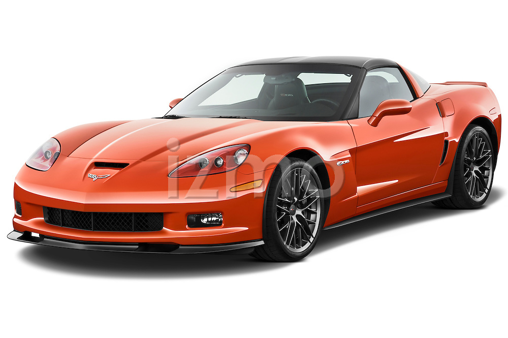 Front three quarter view of a 2011 Chevrolet Corvette Z06.